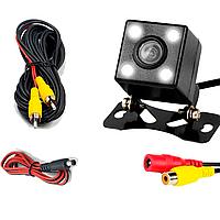 Автомобильная камера заднего вида 170 градусов NJ AKAI Vision A-101, ночная подсветка, провода в комплекте