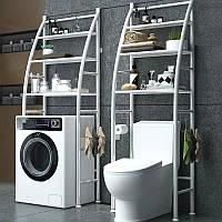 Усиленная стойка на стиральную машину 168см Sailboat Washing Machine Rack (tm-021), белая