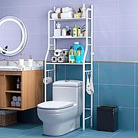 Усиленная стойка над унитазом 160 см Toilet Rack официальная, порошковое покрытие, белая