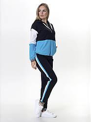 Костюм спортивный женский трикотажный  SK034 голубой