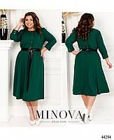Стримане сукню з розкльошені подолом, декороване кнопками з 50 по 60 розмір, фото 5