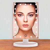Поворотной косметическое зеркало для макияжа Magic Makeup MIRROR 22 LED с сенсорной кнопкой