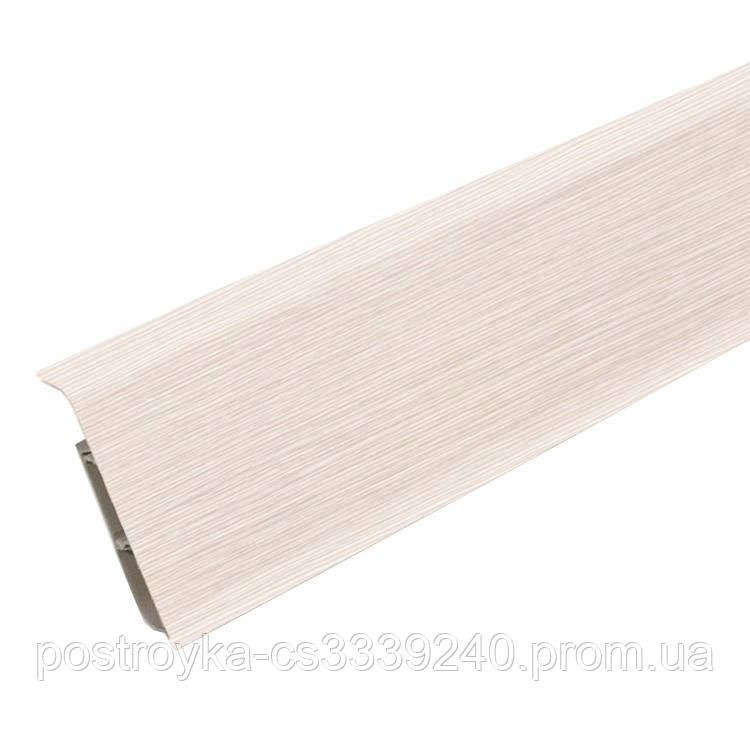 Плинтус пластиковый Идеал DECONIKA (Деконика) №266 Клен светлый 85 мм