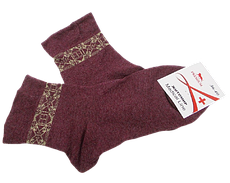 Шкарпетки без гумки Medical Line 36-40 бордові