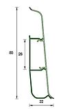 Плинтус пластиковый Идеал DECONIKA (Деконика) №291 Орех 85 мм, фото 3