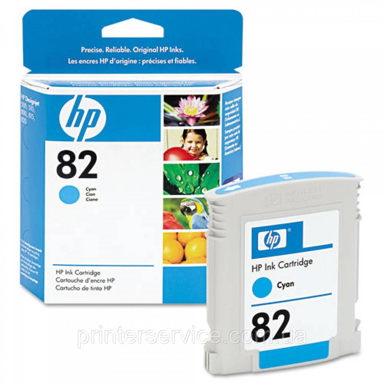 Картридж HP 82 для плоттера HP Designjet 500/800, голубой, 69 мл (C4911A)