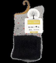 Шкарпетки бавовна з опушкою розмір 36-41 сірі