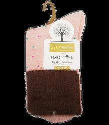 Шкарпетки бавовна з опушкою розмір 36-41 рожеві