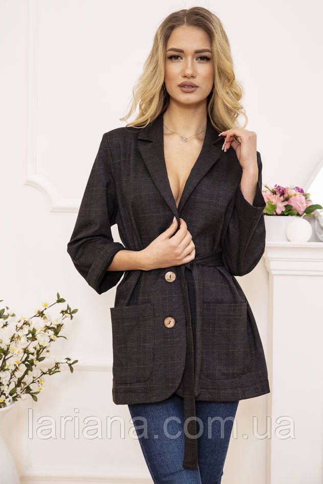 Піджак жіночий 115R389-1 колір Грифельної