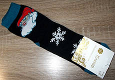 Шкарпетки жіночі НОВОРІЧНІ санта розмір 36-40 чорні