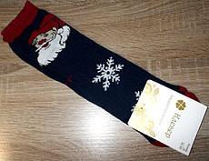 Шкарпетки жіночі НОВОРІЧНІ санта розмір 36-40 темно-сині