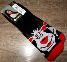 Шкарпетки жіночі НОВОРІЧНІ олень розмір 36-40 чорні