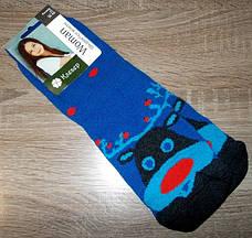 Шкарпетки жіночі НОВОРІЧНІ олень розмір 36-40 сині