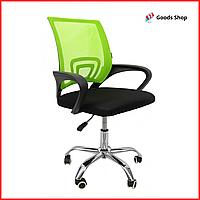 Кресло офисное для персонала Bonro B-619 Компьютерное операторское кресло для офиса руководителя дома зеленое