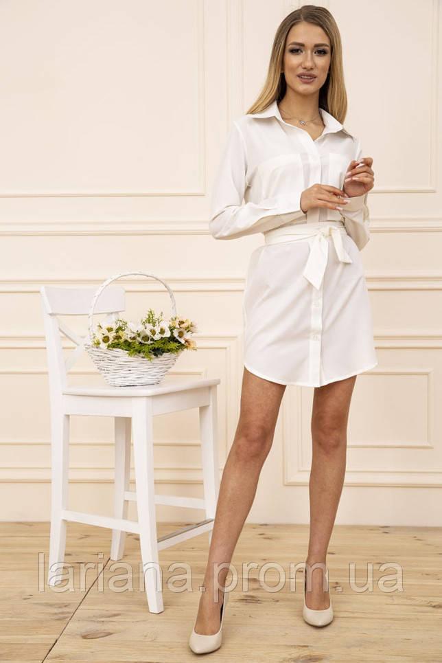 Сукня-сорочка 102R043-1 колір Молочний