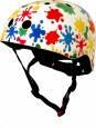 Шлем детский Kiddi Moto цветные кляксы, белый, размер S 48-53см