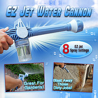 Распылитель воды Водяная пушка Насадка на шланг Водомет с отсеком для моющих средств Ez Jet Water Cannon