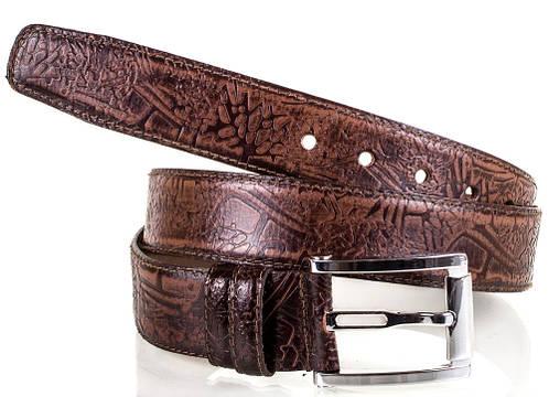 Модный мужской кожаный ремень MYKHAIL IKHTYAR (МИХАИЛ ИХТЯР) MI3559