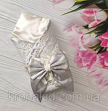 """Комплект для новорожденного на выписку / крещение : конверт и набор одежды """"Джентельмен""""  - ВЕСНА / ЛЕТО, фото 3"""