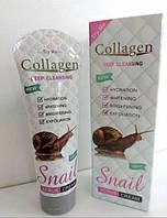 Крем-скраб для лица Collagen Snail Scrub Cream Deep Cleasing для глубокого очищения 150 мл