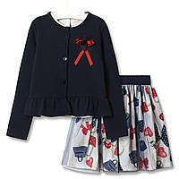 Комплект для дівчинки 3 в 1 Модниця, синій Baby Rose (98)