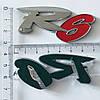 Наклейка R6, объемная, хром, фото 2
