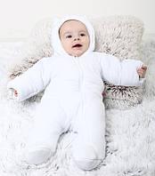 Демісезонний комбінезон для новонароджених BB, білий