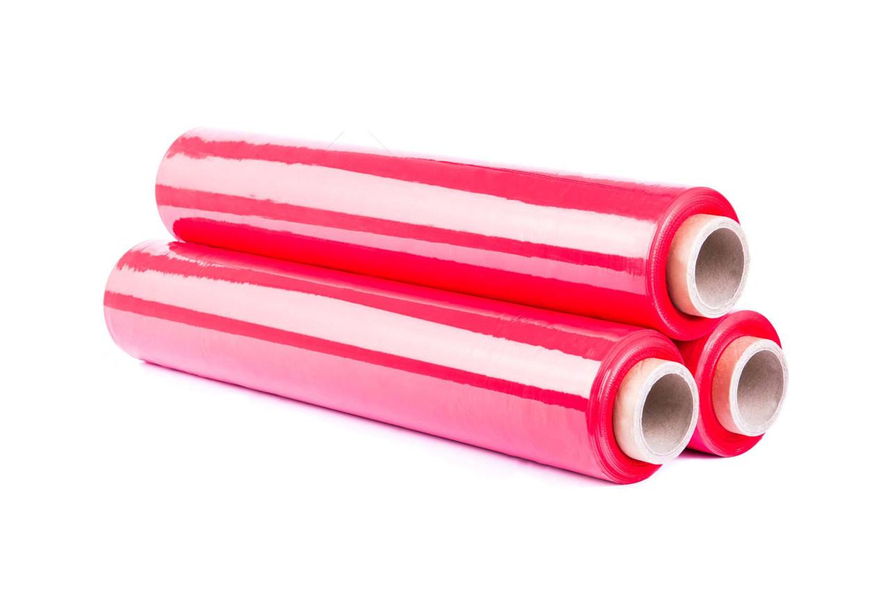 Стрейч пленка красная 23мкм х 500мм х 2,4кг х 250м