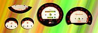 ProSpirit - Накладки на панель приборов для  BMW, Black & Red, P1-04