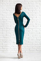 Платье женское Изабелла изумрудное, платье до колена