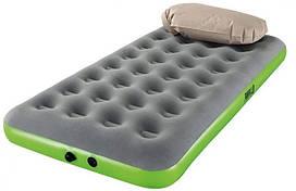 Матрас надувной одноместный Bestway 67619 c подушкой, серый с зеленым