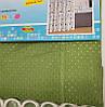 Шторка для ванни і душа текстильна з кільцями SHOWER CURTAIN Піку 180х180см оливкова тканинна SD, фото 3