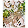 Тарелка круглая обеденная IKEA DINERA 26 см розовая каменная керамика ИКЕА ДІНЕРА, фото 5