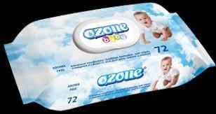 """Дитяча волога серветка PREMIUM """"OZONE"""" б/зап.з клапаном (72шт)"""