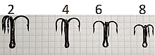 Крючок NF тройник NF-3Ni №2