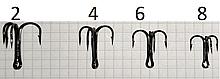 Крючок NF тройник NF-3Ni №4