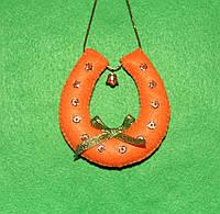 Подарок подвеска из фетра Символ Удачи Подковка  2523, фото 1