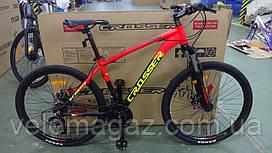 """Велосипед алюминиевый горный Crosser Scorpio 17"""" рама, колеса 26"""" оранжевый"""