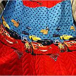 Дитяче стьобане покривало на ліжко 160*210 тачки маквин, фото 3