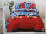 Дитяче стьобане покривало на ліжко 160*210 тачки маквин, фото 2