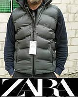 Жилет безрукавка ZARA р.L с капюшоном Original унисекс, мужской, женский, подростковый