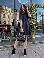 Красивое Молодёжное платье , свободного кроя вельветовое,Новое поступление товара весна 2021