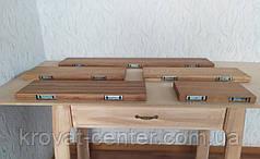 Полиця навісна дубова кухонні з невидимим кріпленням покрита маслом 1000х170х30 мм., фото 2