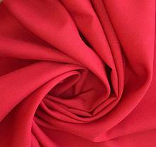 Тканина-габардин червоний