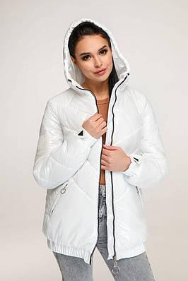 Модна біла куртка демісезонна