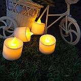 Набір електронних свічок, колір тепло-білий, набір 24 шт, фото 4