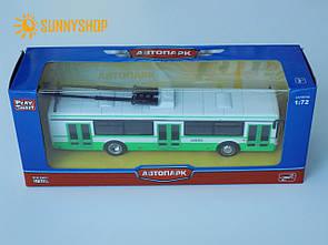 Металева машинка Автосвіт тролейбус 6407