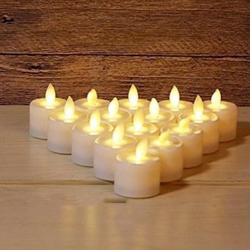 Набір електронних свічок, колір тепло-білий, набір 24 шт