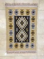 Доріжка двосторінна килимова котон коричневий 120*60