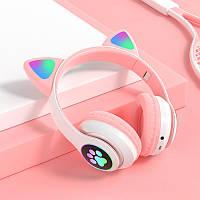 Беспроводные наушники CAT с кошачьими светящимися ушками LED Bluetooth MP3 FM радио , STN-28 ! Разные цвета!!